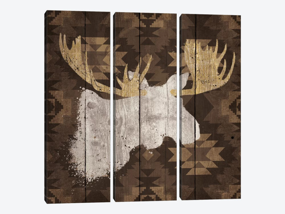 Precious Antlers IV by Wellington Studio 3-piece Canvas Print