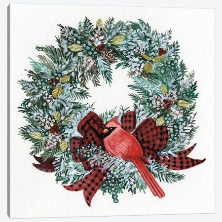 Holiday Wreath I Canvas Print #WAC4683} by Kathleen Parr McKenna Canvas Art Print