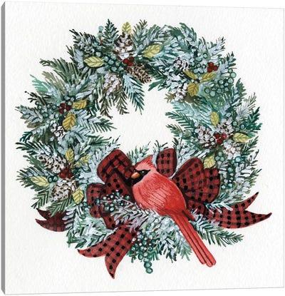 Holiday Wreath I Canvas Art Print
