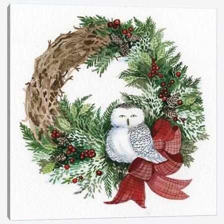 Holiday Wreath II Canvas Print #WAC4684} by Kathleen Parr McKenna Canvas Wall Art