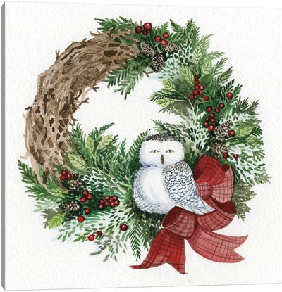 Holiday Wreath II Canvas Art Print
