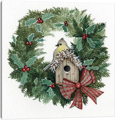 Holiday Wreath III Canvas Art Print