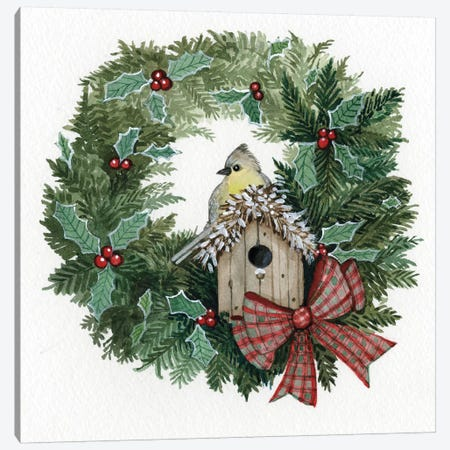 Holiday Wreath III Canvas Print #WAC4685} by Kathleen Parr McKenna Canvas Artwork