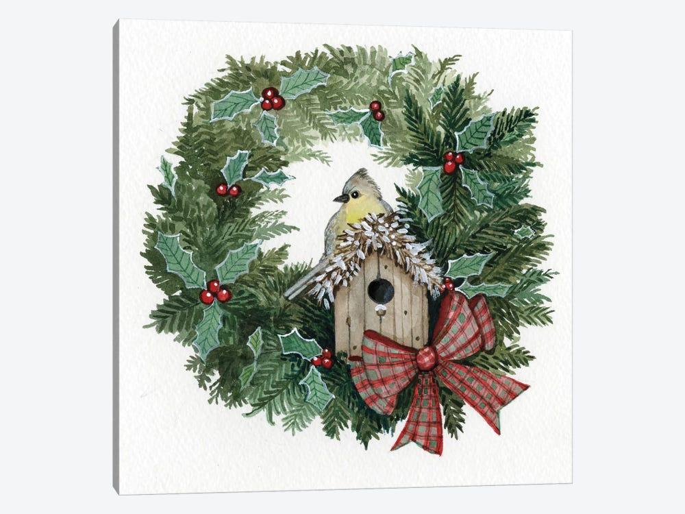 Holiday Wreath III by Kathleen Parr McKenna 1-piece Canvas Art Print