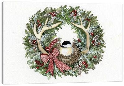 Holiday Wreath IV Canvas Art Print