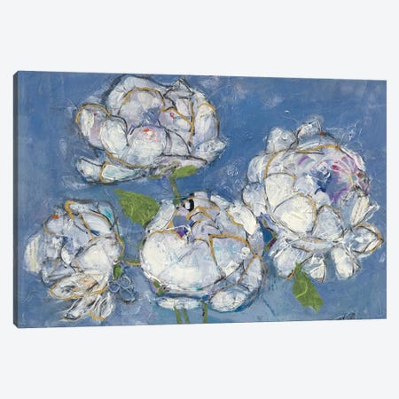 Vase Of Peonies Canvas Print #WAC4696} by Kellie Day Canvas Print