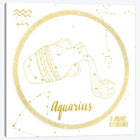 Aquarius Canvas Print #WAC4698} by Sara Zieve Miller Canvas Artwork