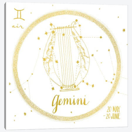 Gemini Canvas Print #WAC4701} by Sara Zieve Miller Canvas Wall Art