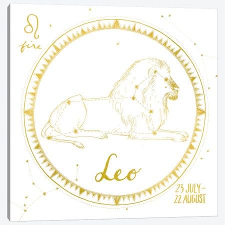Leo Canvas Print #WAC4702} by Sara Zieve Miller Canvas Art