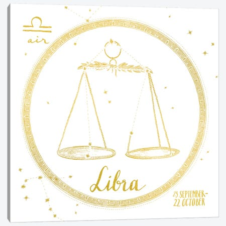 Libra Canvas Print #WAC4703} by Sara Zieve Miller Canvas Artwork