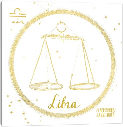 Night Sky Series: Libra Canvas Print #WAC4703