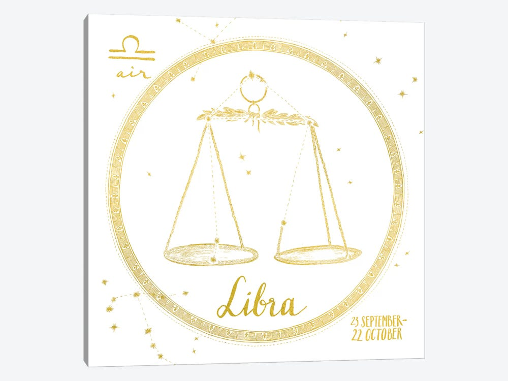 Night Sky Series: Libra by Sara Zieve Miller 1-piece Canvas Art
