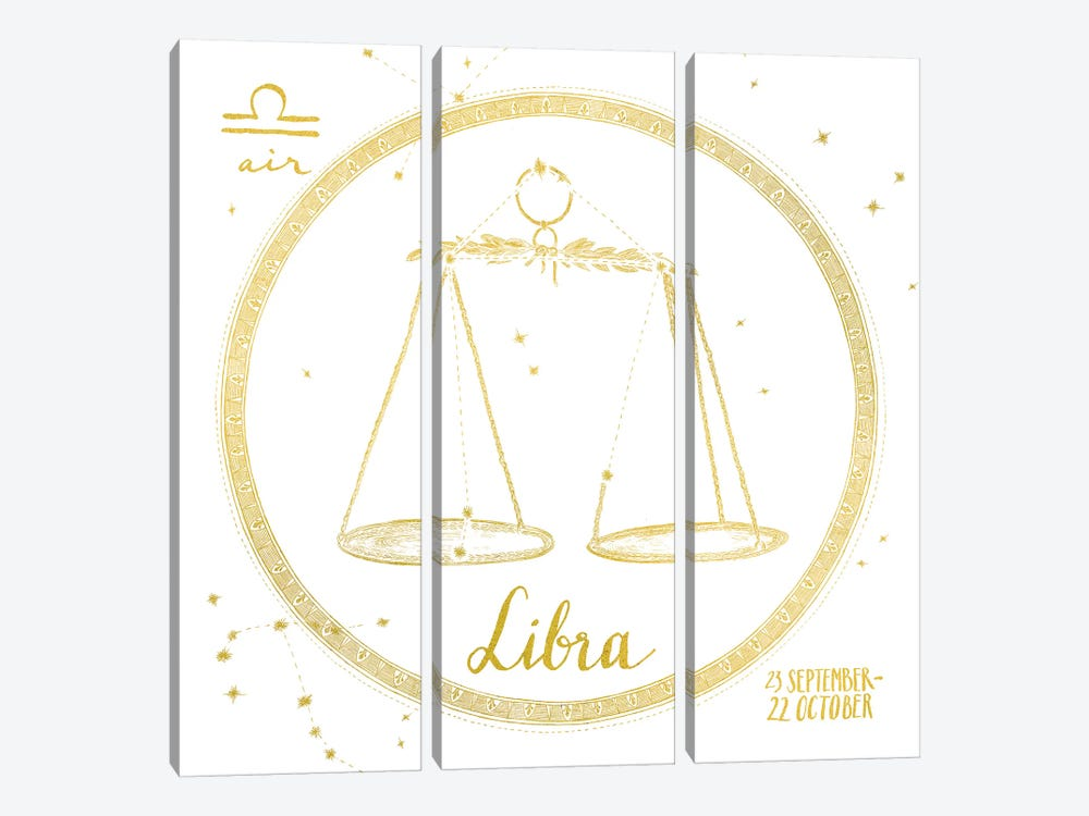 Night Sky Series: Libra by Sara Zieve Miller 3-piece Canvas Art