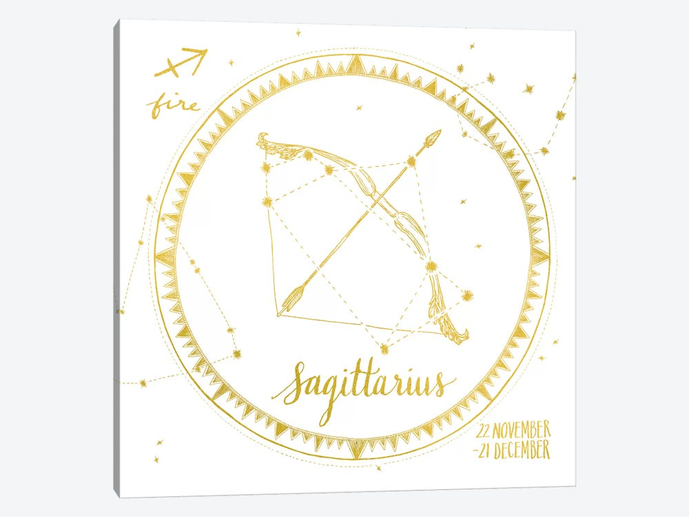 Night Sky Series: Sagittarius by Sara Zieve Miller 1-piece Canvas Wall Art