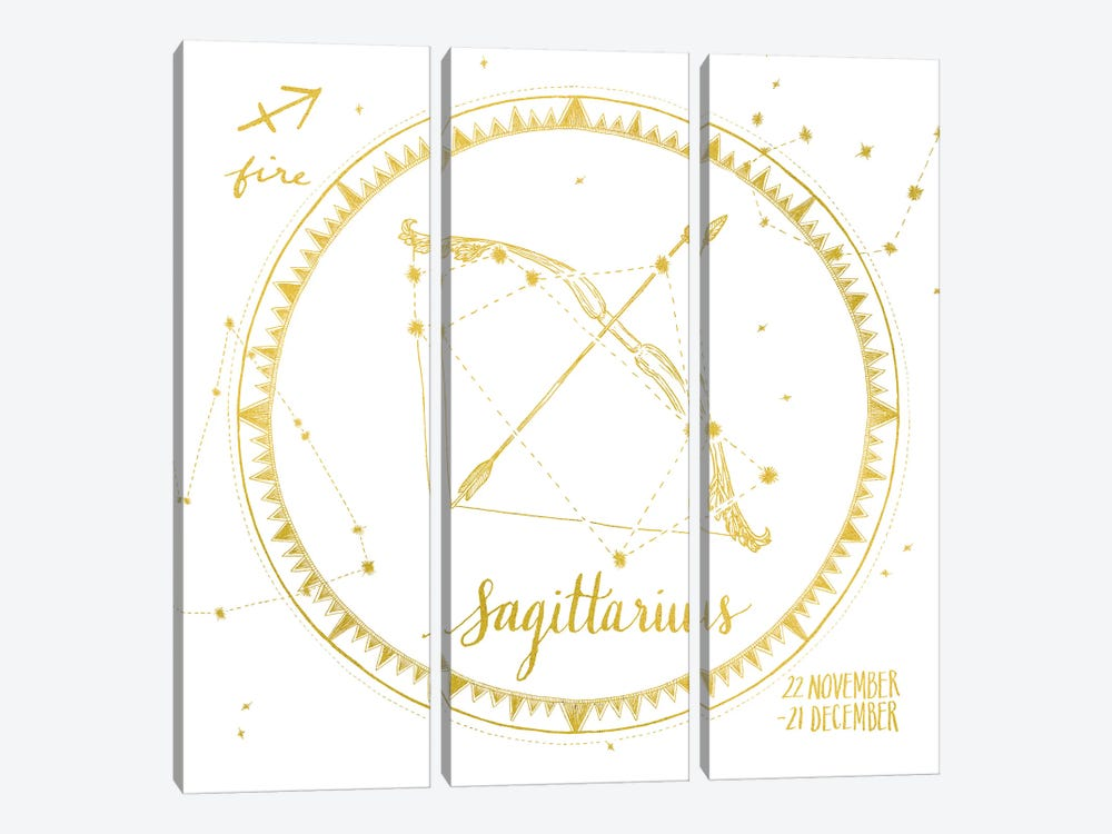 Sagittarius by Sara Zieve Miller 3-piece Canvas Artwork
