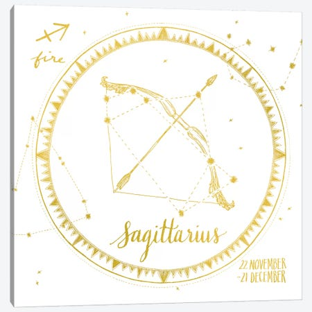 Sagittarius Canvas Print #WAC4705} by Sara Zieve Miller Canvas Art Print