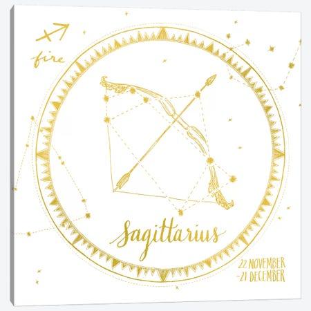 Sagittarius Canvas Print #WAC4705} by Sara Zieve Miller Canvas Art Print