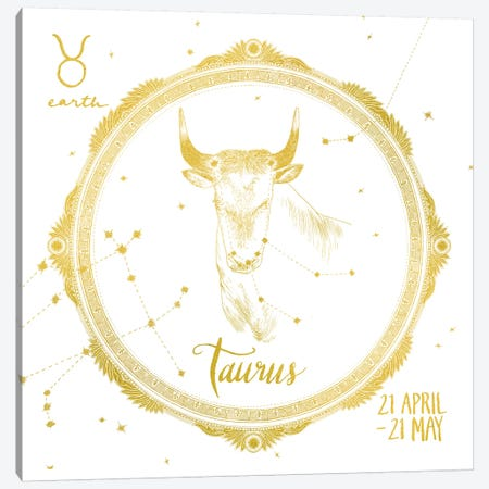 Taurus Canvas Print #WAC4707} by Sara Zieve Miller Canvas Print