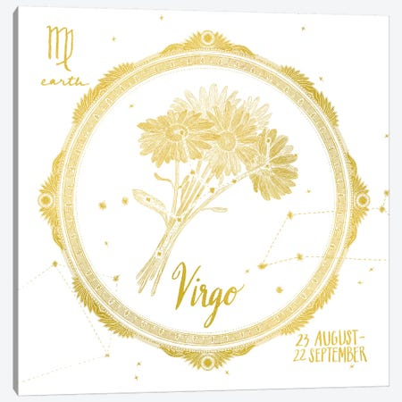 VIrgo Canvas Print #WAC4708} by Sara Zieve Miller Canvas Wall Art