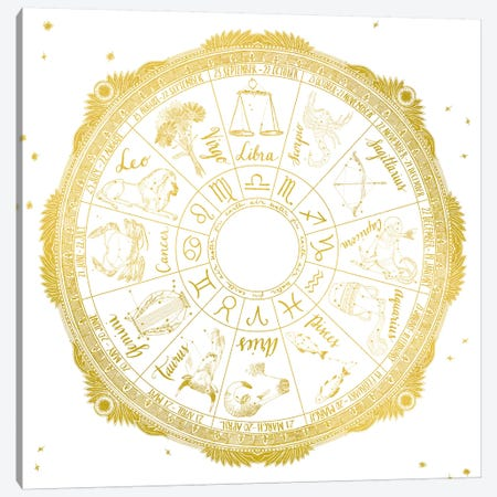 Zodiac Canvas Print #WAC4709} by Sara Zieve Miller Canvas Wall Art