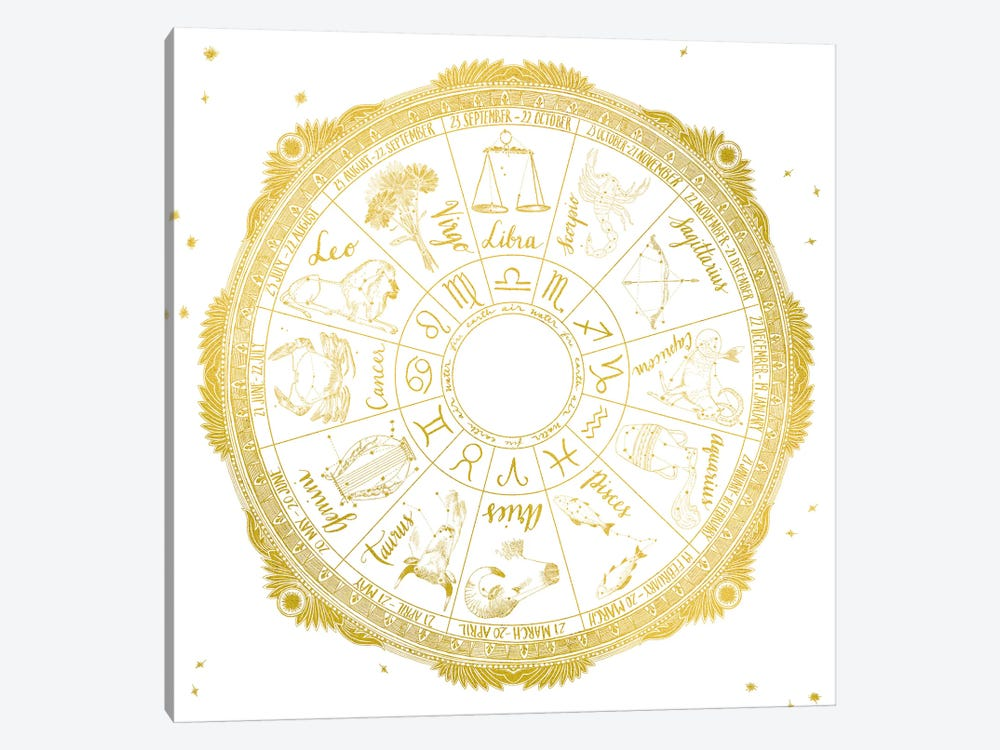 Zodiac by Sara Zieve Miller 1-piece Canvas Wall Art