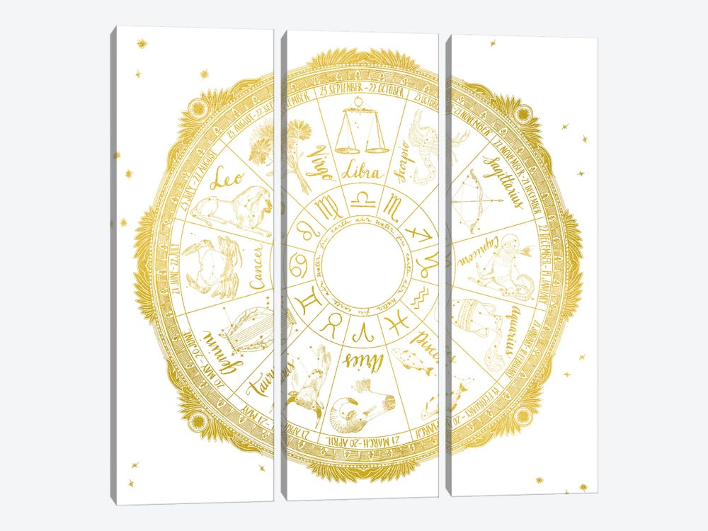 Zodiac by Sara Zieve Miller 3-piece Canvas Wall Art