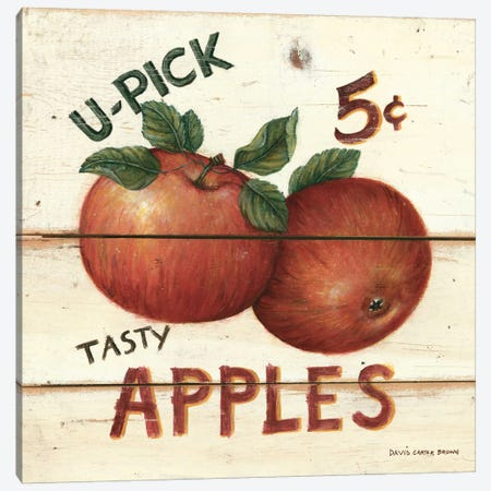Tasty Apples Canvas Print #WAC471} by David Carter Brown Canvas Art Print