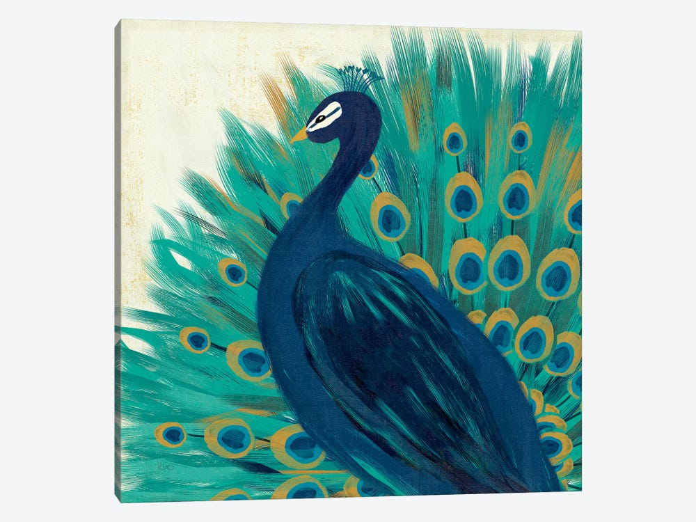 Proud As A Peacock II by Veronique Charron 1-piece Art Print