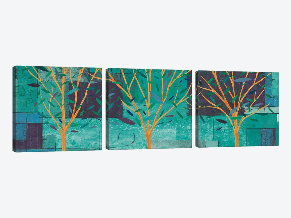 Watercolor Forest III by Veronique Charron 3-piece Canvas Art Print