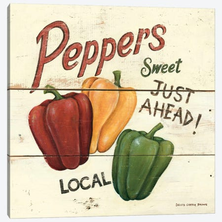 Sweet Peppers Canvas Print #WAC472} by David Carter Brown Art Print