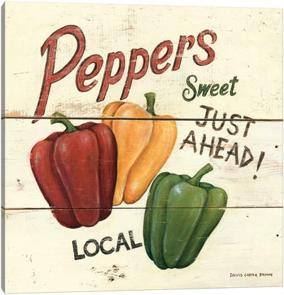 Sweet Peppers Canvas Print #WAC472
