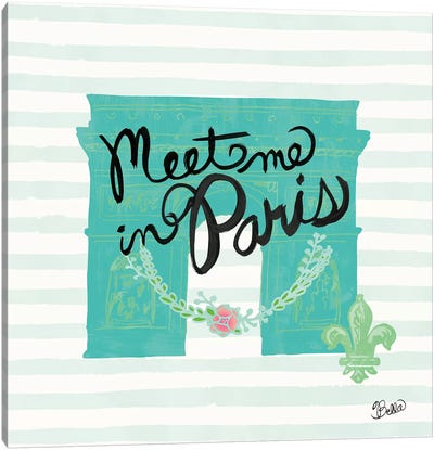 Meet Me In Paris Canvas Art Print