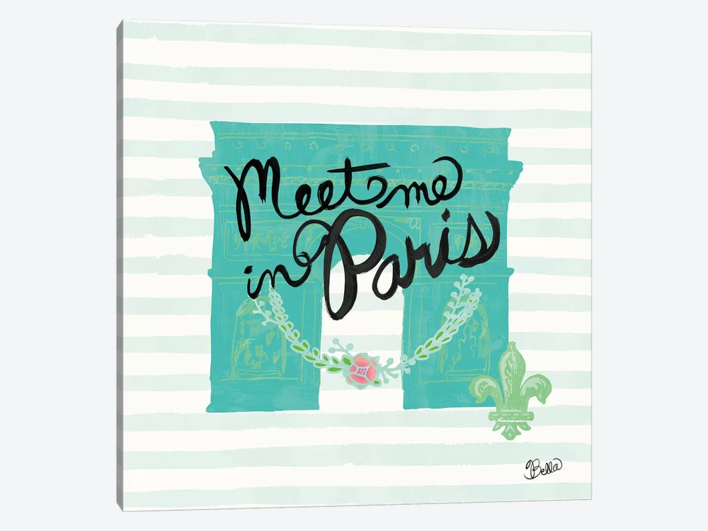Meet Me In Paris by Studio Bella 1-piece Canvas Artwork
