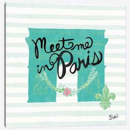 Meet Me In Paris Canvas Print #WAC4738} by Studio Bella Art Print