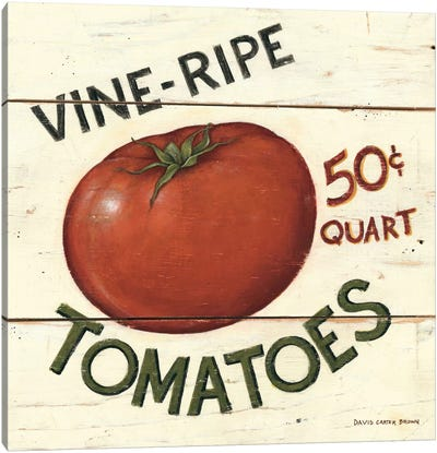 Vine Ripe Tomatoes Canvas Art Print