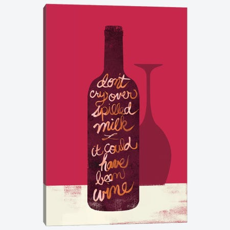 Don't Cry Over Spilled Milk Canvas Print #WAC4740} by Studio Bella Canvas Artwork