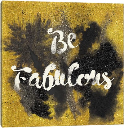 Glitter And Gold I.A Canvas Art Print
