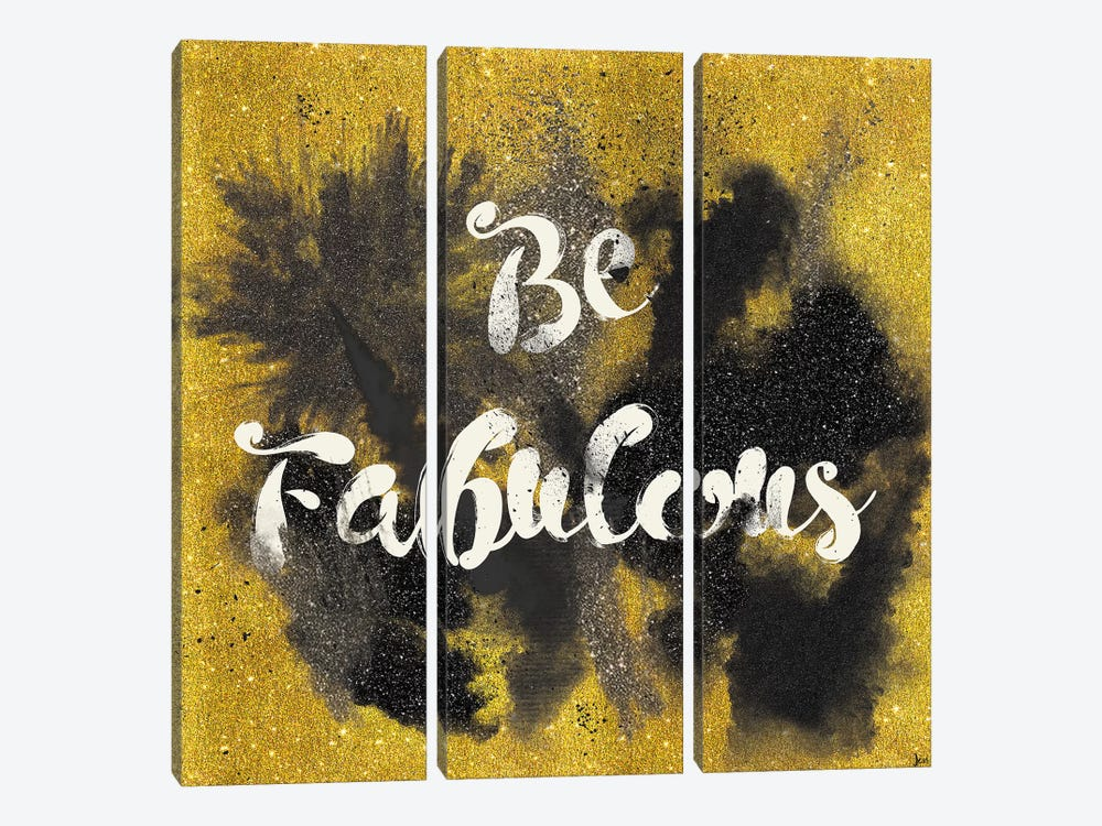 Glitter And Gold I.A 3-piece Canvas Wall Art