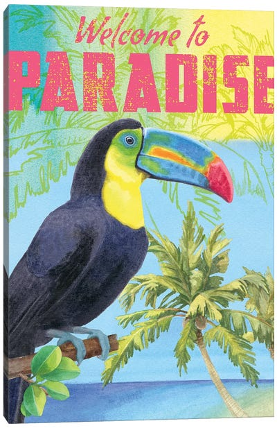 Island Time Parrot Canvas Art Print