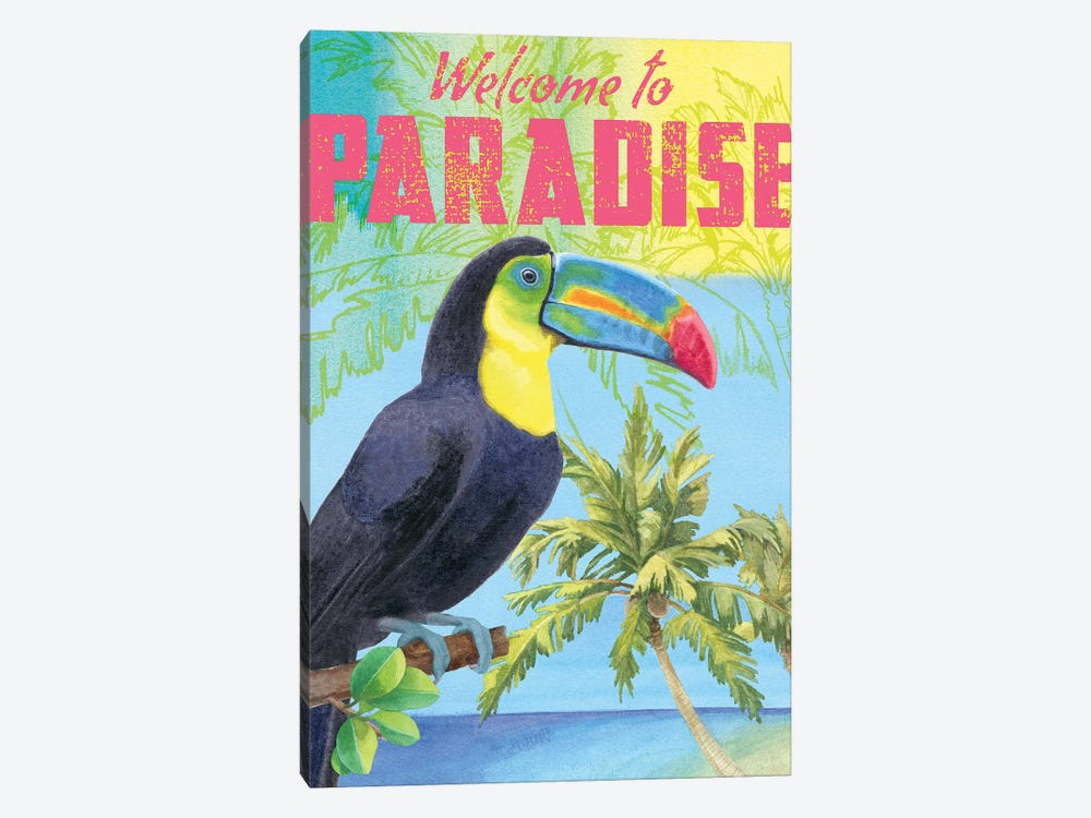 Island Time Parrot by Beth Grove 1-piece Canvas Print