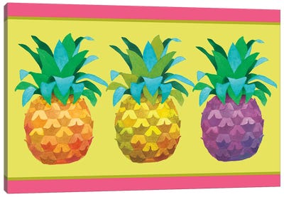 Island Time Pineapples I Canvas Art Print