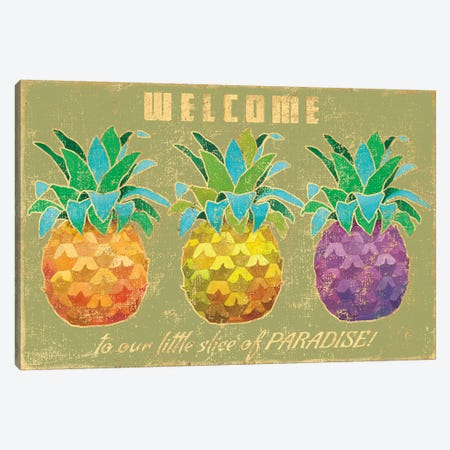 Island Time Pineapples II Canvas Print #WAC4754} by Beth Grove Canvas Artwork