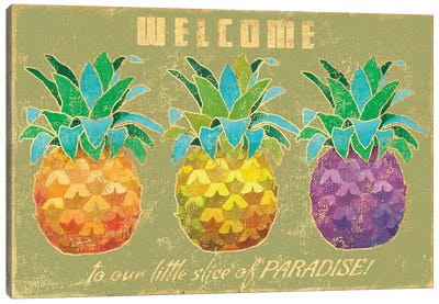 Island Time Pineapples II Canvas Art Print