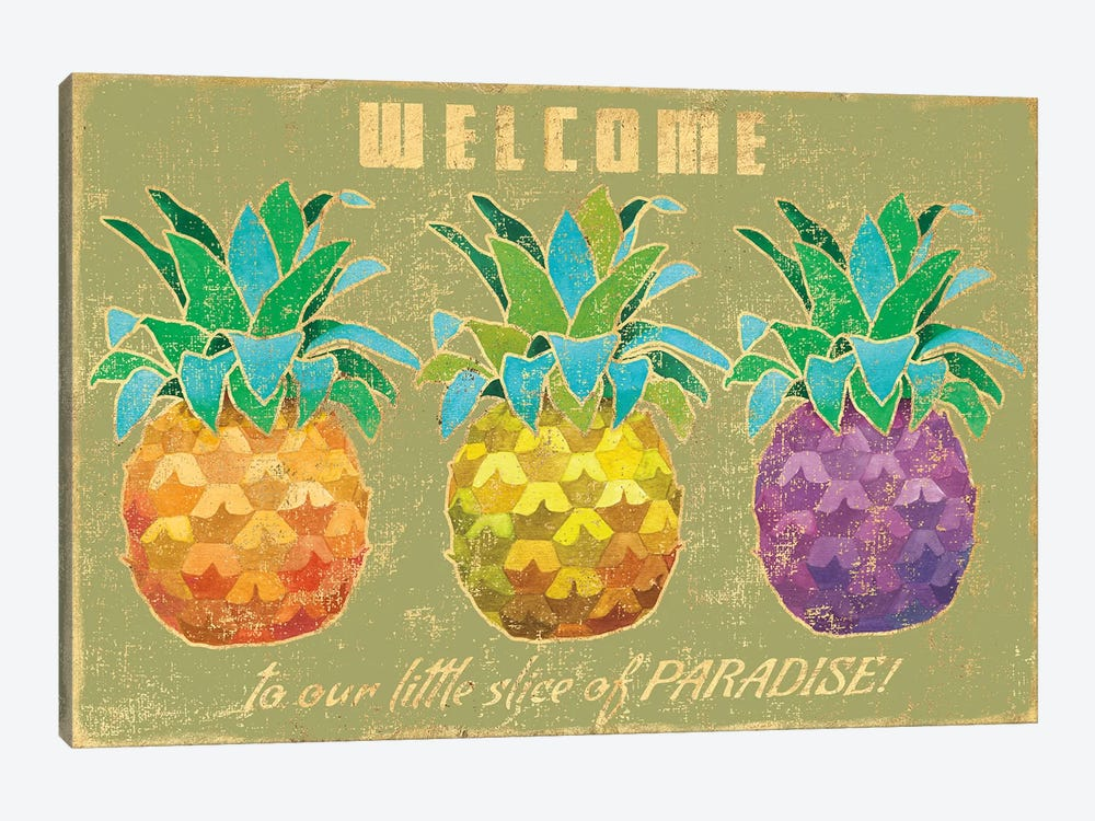 Island Time Pineapples II by Beth Grove 1-piece Canvas Wall Art