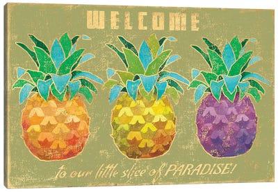 Island Time Pineapples II Canvas Art Print