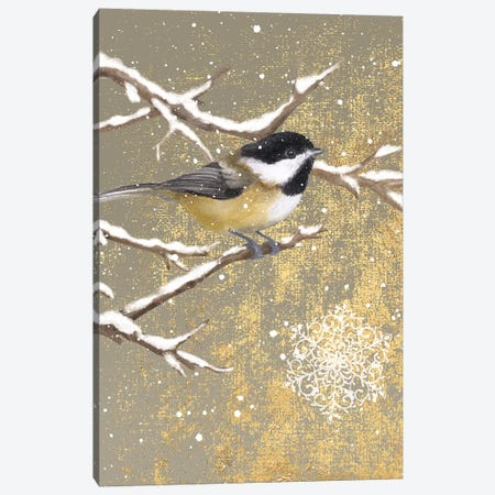 Winter Birds Series: Chickadee Canvas Print #WAC4762} by Beth Grove Canvas Wall Art