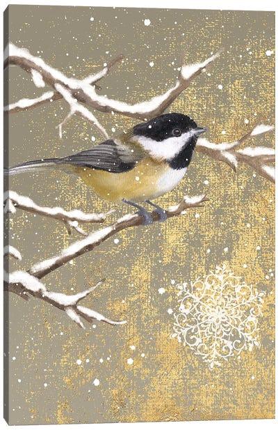 Winter Birds Series: Chickadee Canvas Print #WAC4762