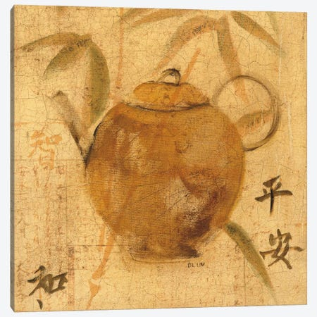 Asian Teapot IV Canvas Print #WAC4767} by Cheri Blum Canvas Print