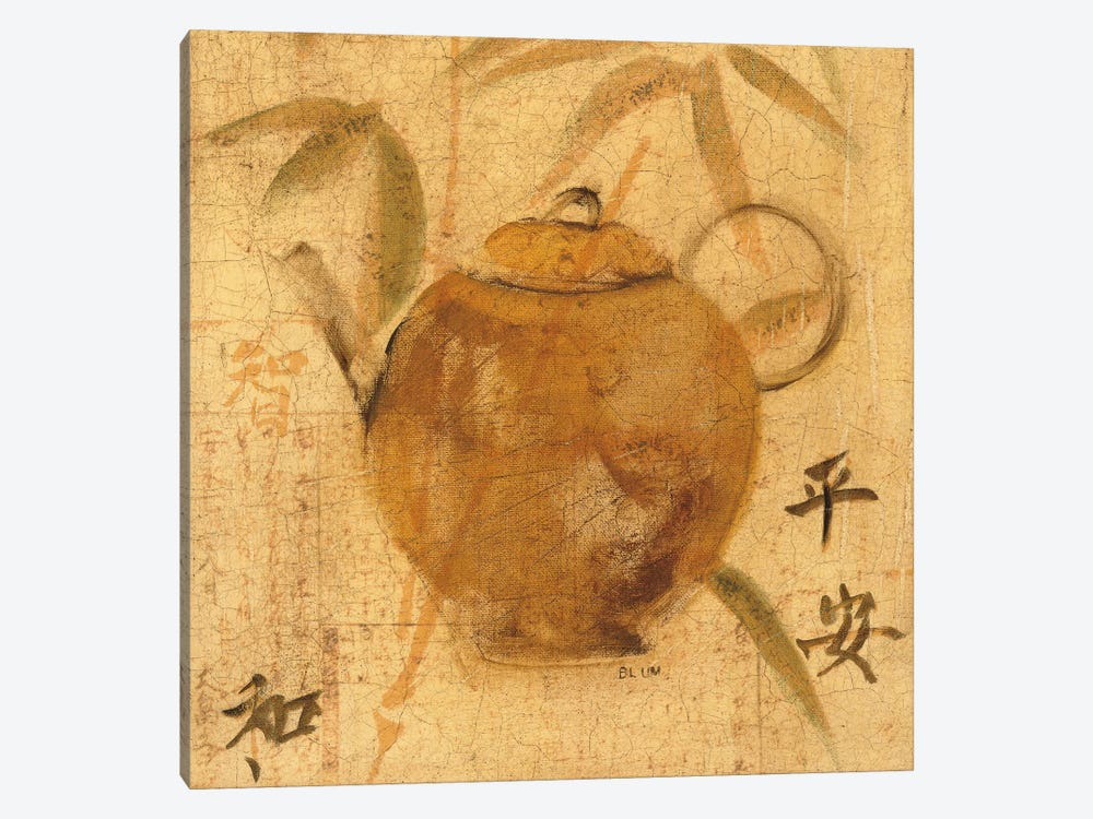 Asian Teapot IV by Cheri Blum 1-piece Canvas Wall Art
