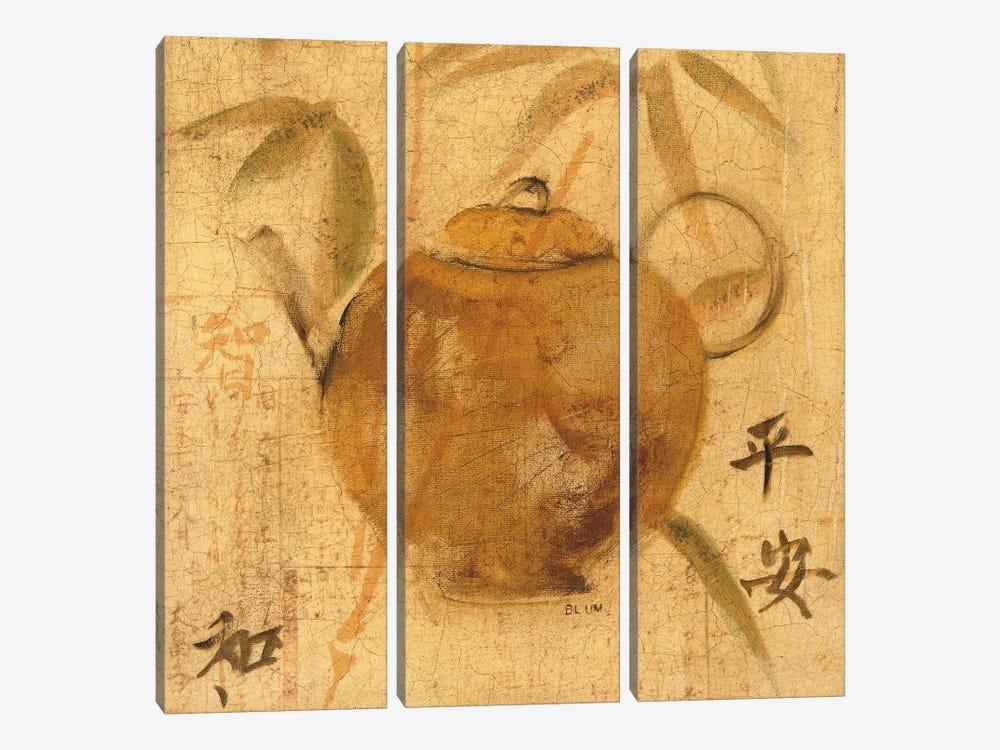 Asian Teapot IV by Cheri Blum 3-piece Canvas Wall Art